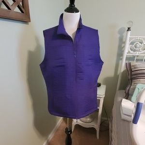 Chico's purple quilted vest